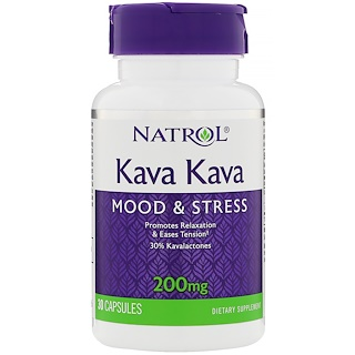 Natrol, Kava Kava, 200 mg, 30 Capsules