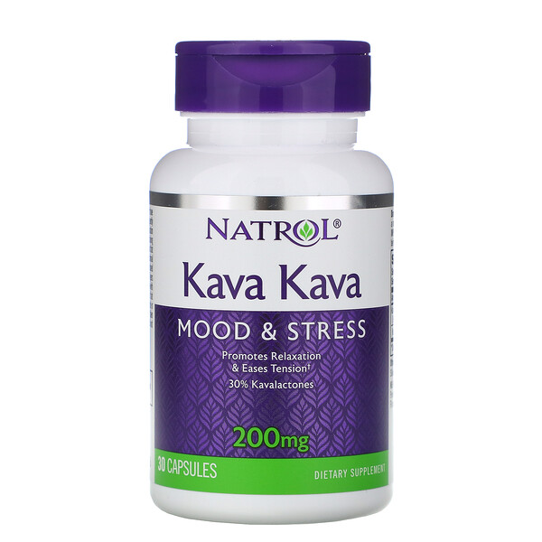 Kava Kava, 200 mg, 30 cápsulas