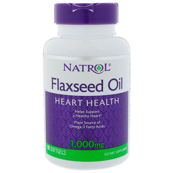 Natrol, 亜麻仁油, 1,000 mg, 90 ソフトジェル