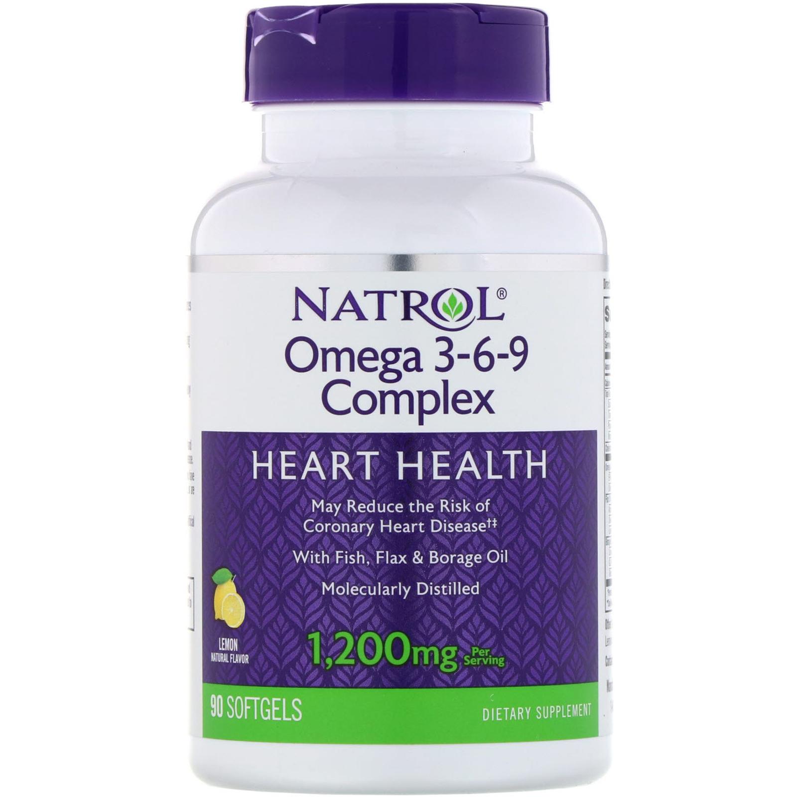 Natrol Omega 3 6 9 Complex Lemon 1 200 Mg 90 Softgels Iherb