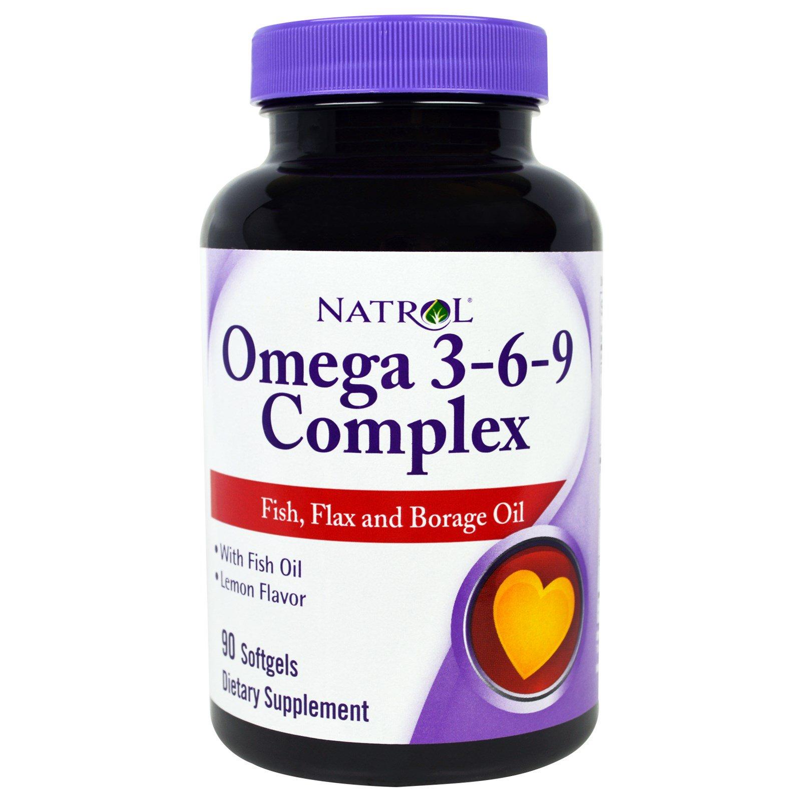 Natrol, Комплекс омега 3-6-9, со вкусом лимона, 90 жевательных капсул
