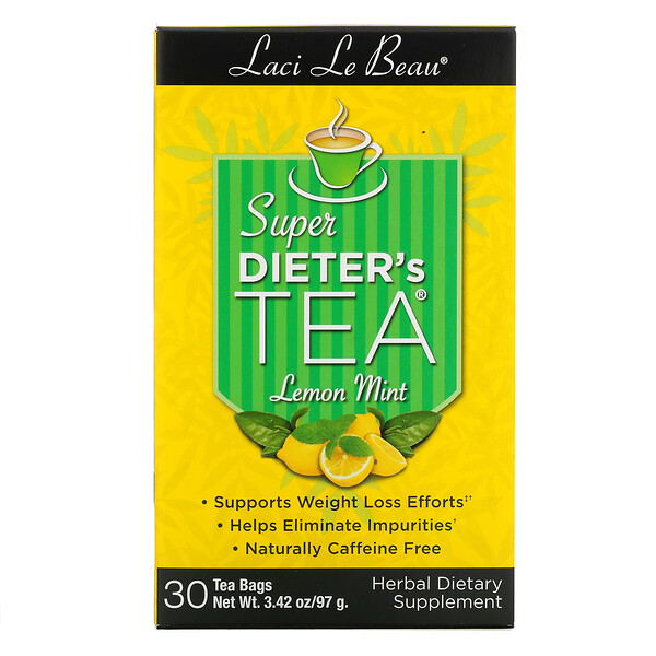 Laci Le Beau, Super Dieter's Tea, Lemon Mint, 30 Tea Bags, 2.63 oz (75 g)