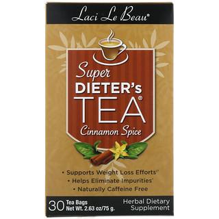 Natrol, Laci Le Beau, Super Dieter's Tea, Cinnamon Spice, 30 Tea Bags, 2.63 oz (75 g)