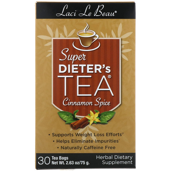 Natrol, Laci Le Beau, Super Dieter's Tea, Cinnamon Spice, 30 Tea Bags, 2.63 oz (75 g) (Discontinued Item)
