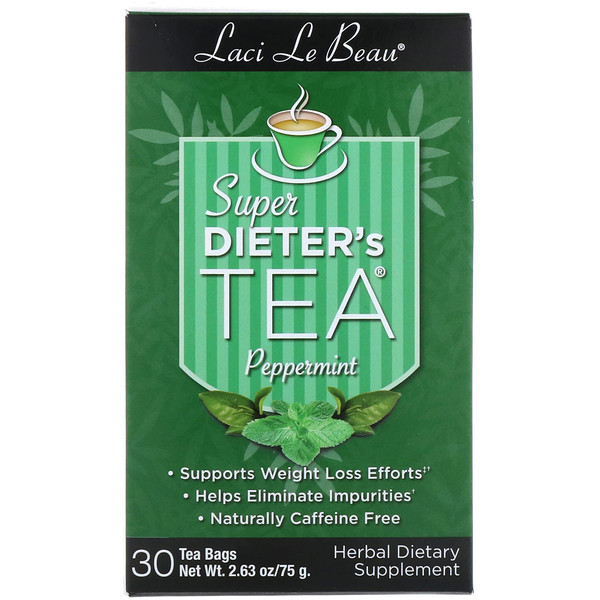 Natrol, Laci Le Beau, Super Dieter's Tea, Peppermint, 30 Tea Bags, 2.63 oz (75 g) (Discontinued Item)