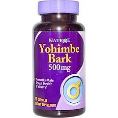 Natrol, Yohimbe Bark, 500 mg, 90 Capsules
