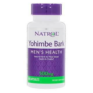 Natrol, Кора йохимбе, 500 мг, 90 капсул