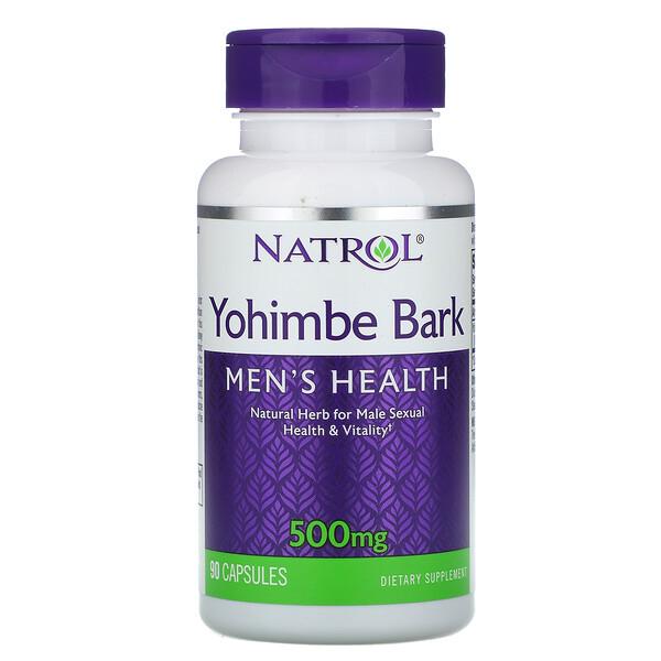 Yohimbe Bark, 500 mg, 90 Capsules