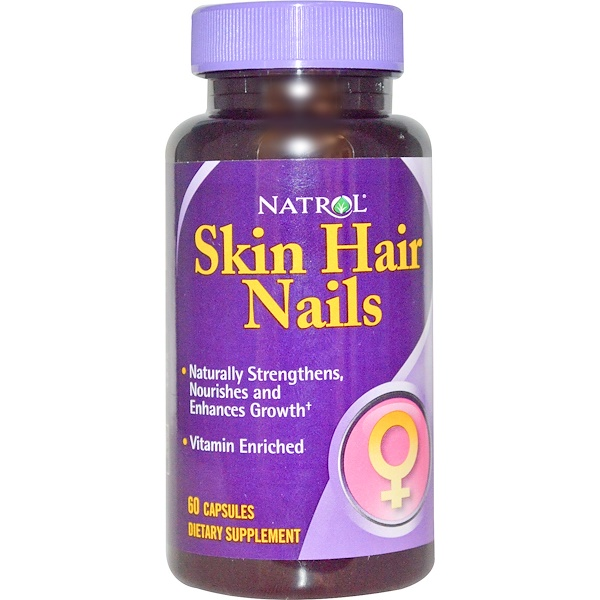 Natrol, Skin Hair Nails, 60 Capsules (Discontinued Item)