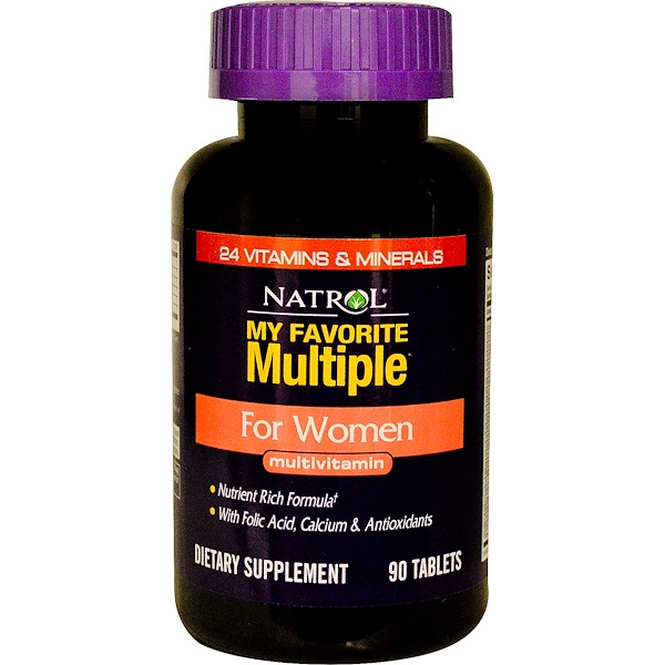 Natrol, My Favorite Multiple, For Women Multivitamin, 90 Tablets (Discontinued Item)