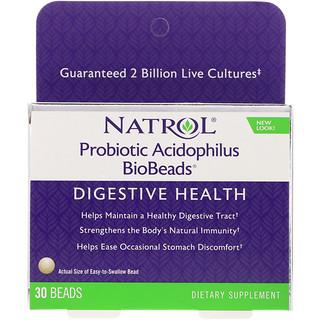 Natrol, Probiotic Acidophilus BioBeads, 30 Beads