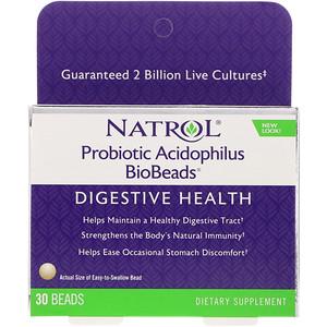 Нэтрол, Probiotic Acidophilus BioBeads, 30 Beads отзывы