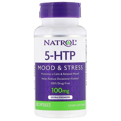 5-HTP, Extra Strength, 100 mg, 30 Capsules glucomannan maximum strength 2 000 mg 90 capsules