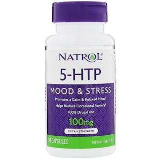 Natrol, 5-HTP, 100 mg, 30 Cápsulas