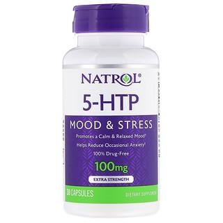 Natrol, 5-HTP, Extra Strength, 100 mg, 30 Capsules