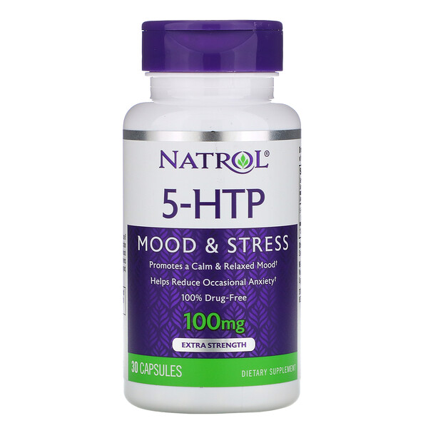 5-HTP, Extra Strength, 100 mg, 30 Capsules