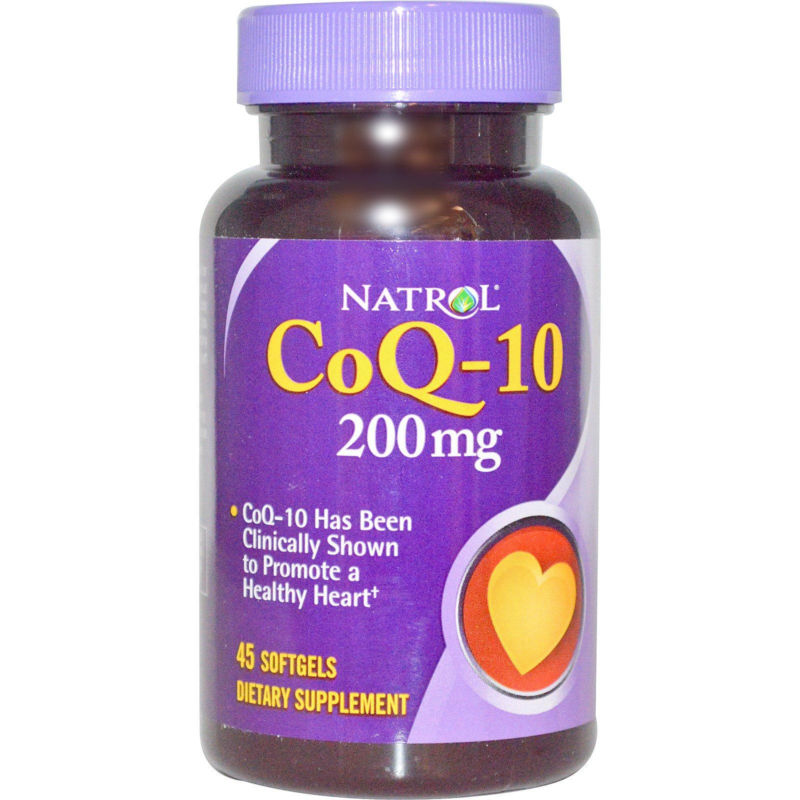 Natrol, Коэнзим Q10, 200 мг, 45 гелевых капсул