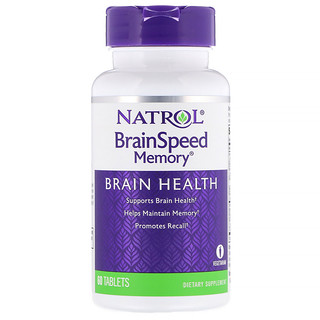 Natrol, BrainSpeed Memory, 60 Tablets