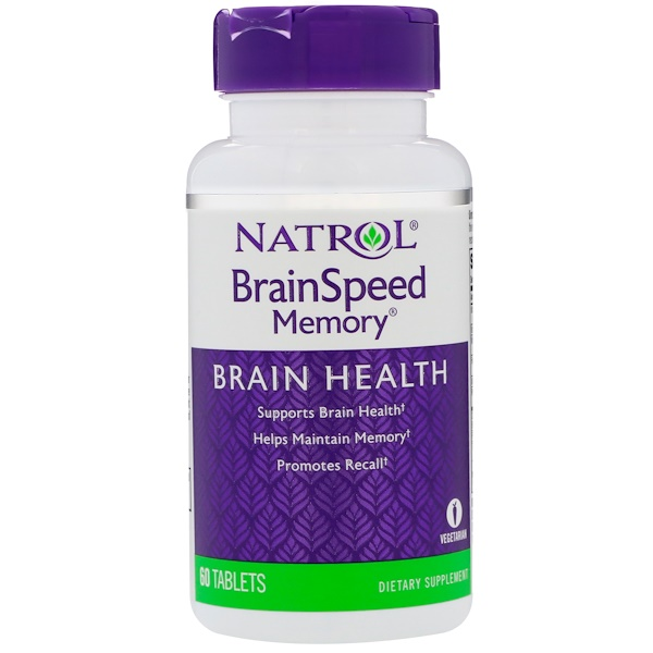 Natrol, BrainSpeedメモリ、60錠