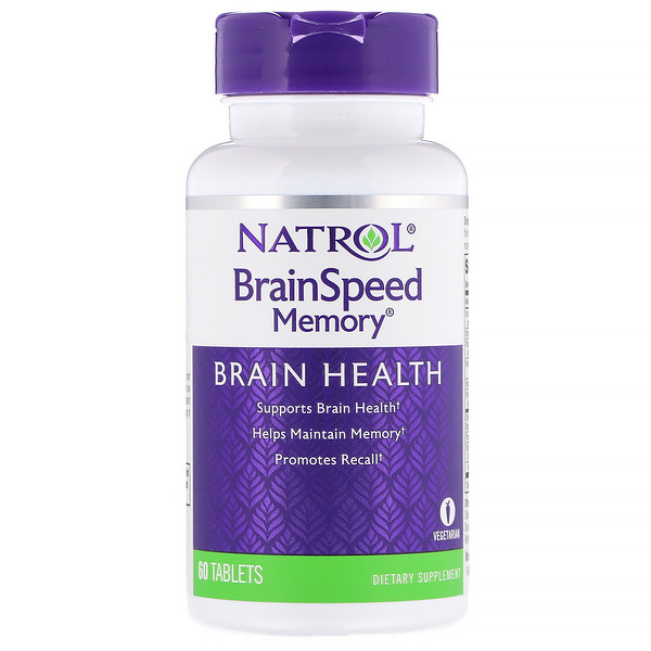 Natrol, BrainSpeed提升記憶片,60片 (Discontinued Item)