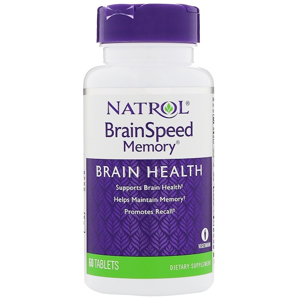Natrol, BrainSpeedメモリ、60錠