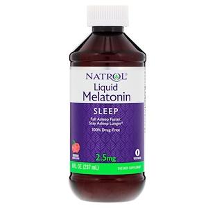Нэтрол, Liquid Melatonin, Raspberry, 2.5 mg, 8 fl oz (237 ml) отзывы
