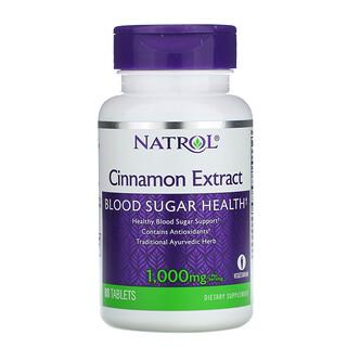Natrol, Cinnamon Extract, 1,000 mg, 80 Tablets