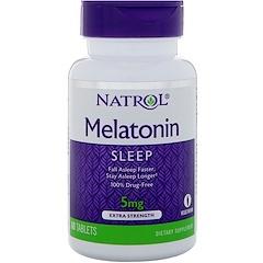 Natrol, Melatonin, Extra Strength, 5 mg, 60 Tablets