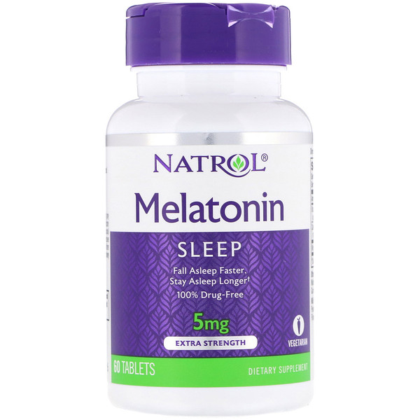 Melatonin, Extra Strength, 5 mg, 60 Tablets