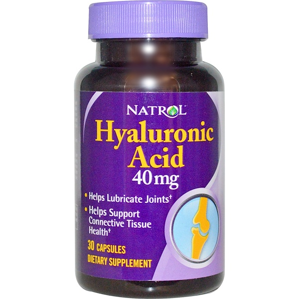 Natrol, Hyaluronic Acid, 40 mg, 30 Capsules (Discontinued Item)
