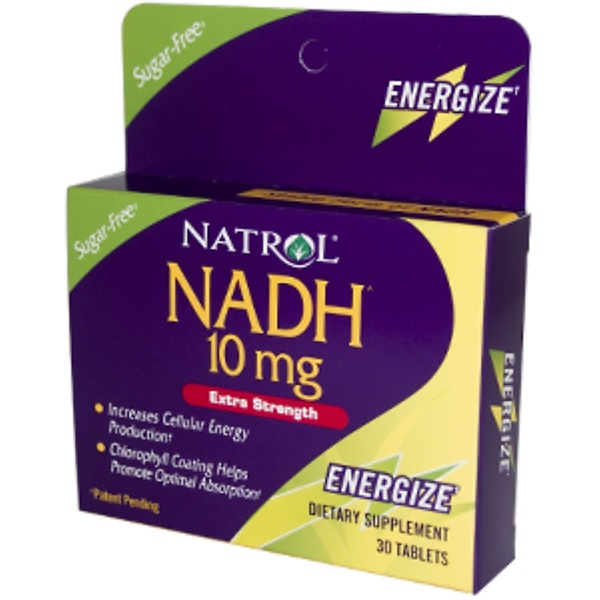 Natrol, NADH, Extra Strength, 10 mg, 30 Tablets (Discontinued Item)