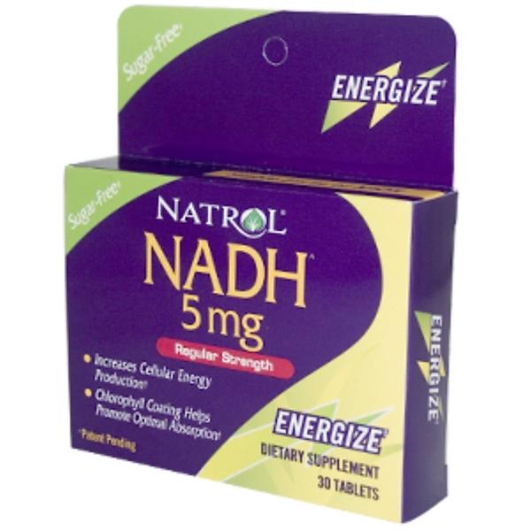 Natrol, NADH, Regular Strength, 5 mg, 30 Tablets (Discontinued Item)