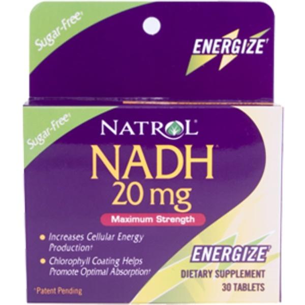 Natrol, NADH Maximum Strength, 20 mg, 30 Tablets (Discontinued Item)