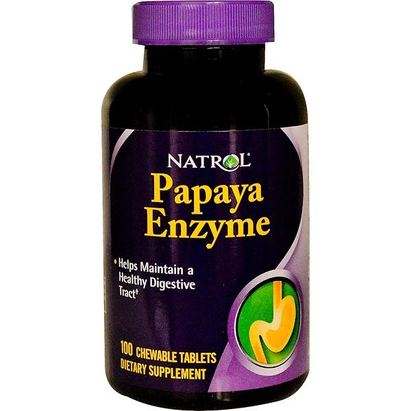 Natrol, Papaya Enzyme, 100 Chewable Tablets (Discontinued Item)