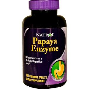 Нэтрол, Papaya Enzyme, 100 Chewable Tablets отзывы