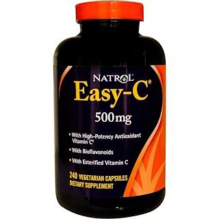 Natrol, Easy-C, 500 mg, 240 Veggie Caps