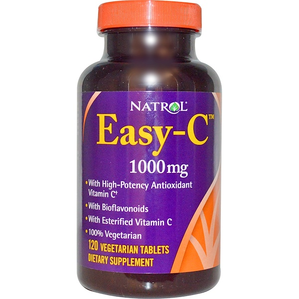 Natrol, Easy-C, 1000 mg, 120 Veggie Tabs (Discontinued Item)