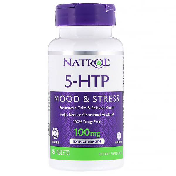 5-HTP, Time Release, Extra Strength, 100 mg, 45 Tablets