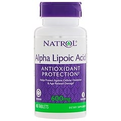 Natrol, Alpha Lipoic Acid, Time Release, 600 mg, 45 Tablets