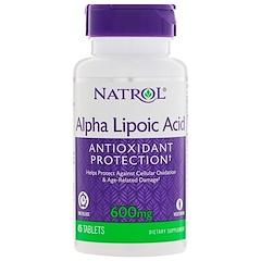 Natrol, Ácido Alfa Lipoico, Liberación Prolongada, 600 mg, 45 Tabletas