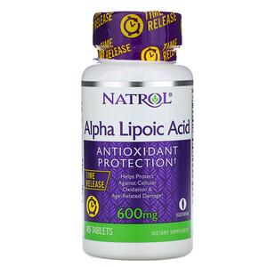 Нэтрол, Alpha Lipoic Acid, Time Release, 600 mg, 45 Tablets отзывы покупателей