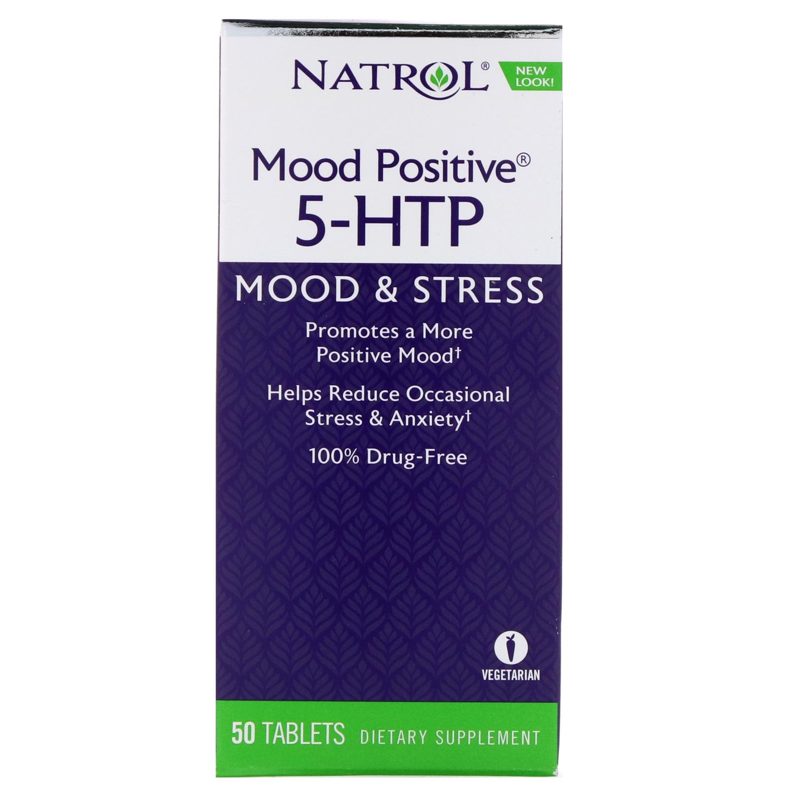 Natrol, Mood Positive 5-HTP, 50 Tablets