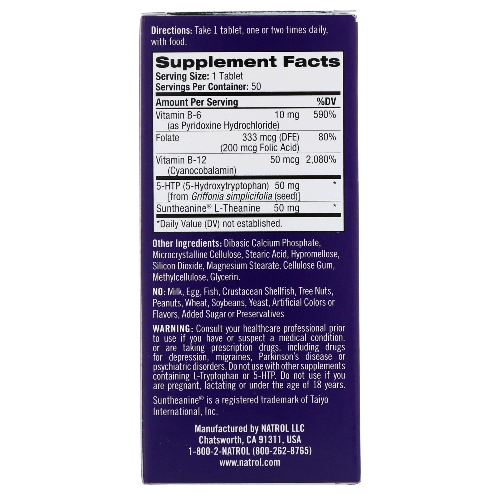 Natrol, Mood Positive 5-HTP, 50 Tablets. By Natrol