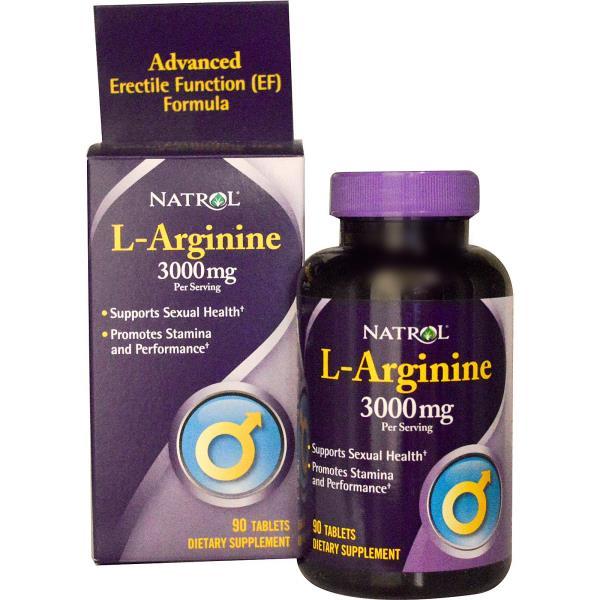 Natrol, L-аргинин, 3000 мг, 90 таблеток