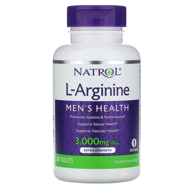 Natrol, L-Arginine, Extra Strength, 3000 mg, 90 Tablets