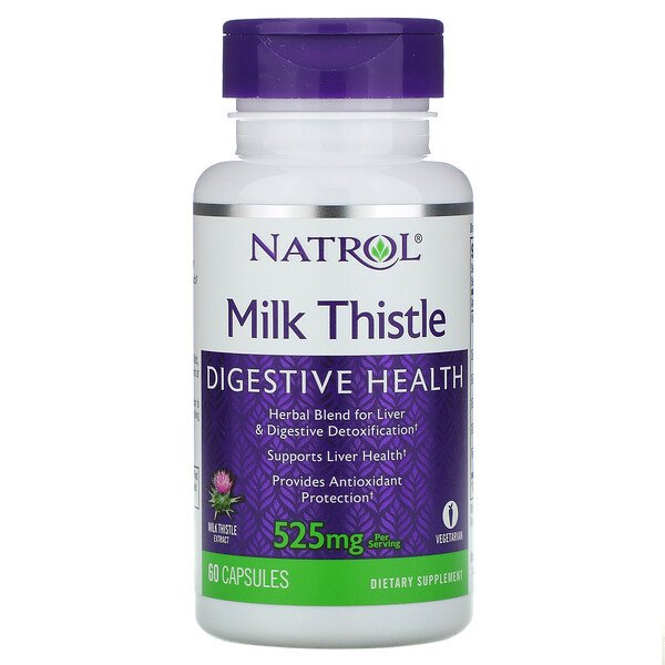 Milk Thistle , 525 mg, 60 Capsules