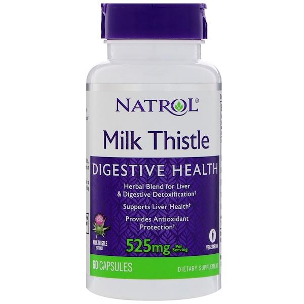 Natrol, الحليب الشوك، 525 ملغ، 60 كبسولة