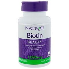 Natrol, بيوتين، 1000 ميكرغرام، 100 قرص
