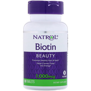 Natrol, Biotin, 1000 mcg, 100 Tablets