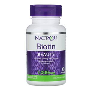 Нэтрол, Biotin, 1000 mcg, 100 Tablets отзывы покупателей